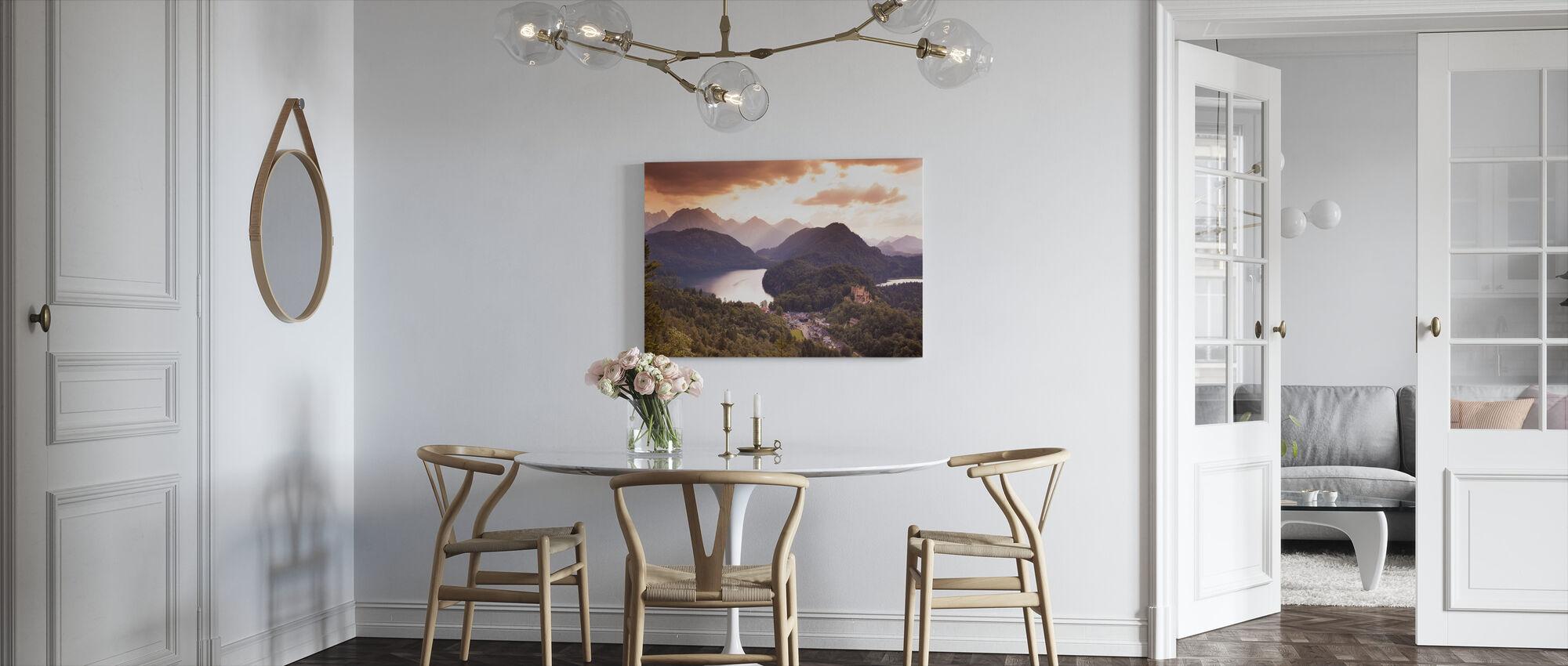 View at Neuschwanstine - Canvas print - Kitchen
