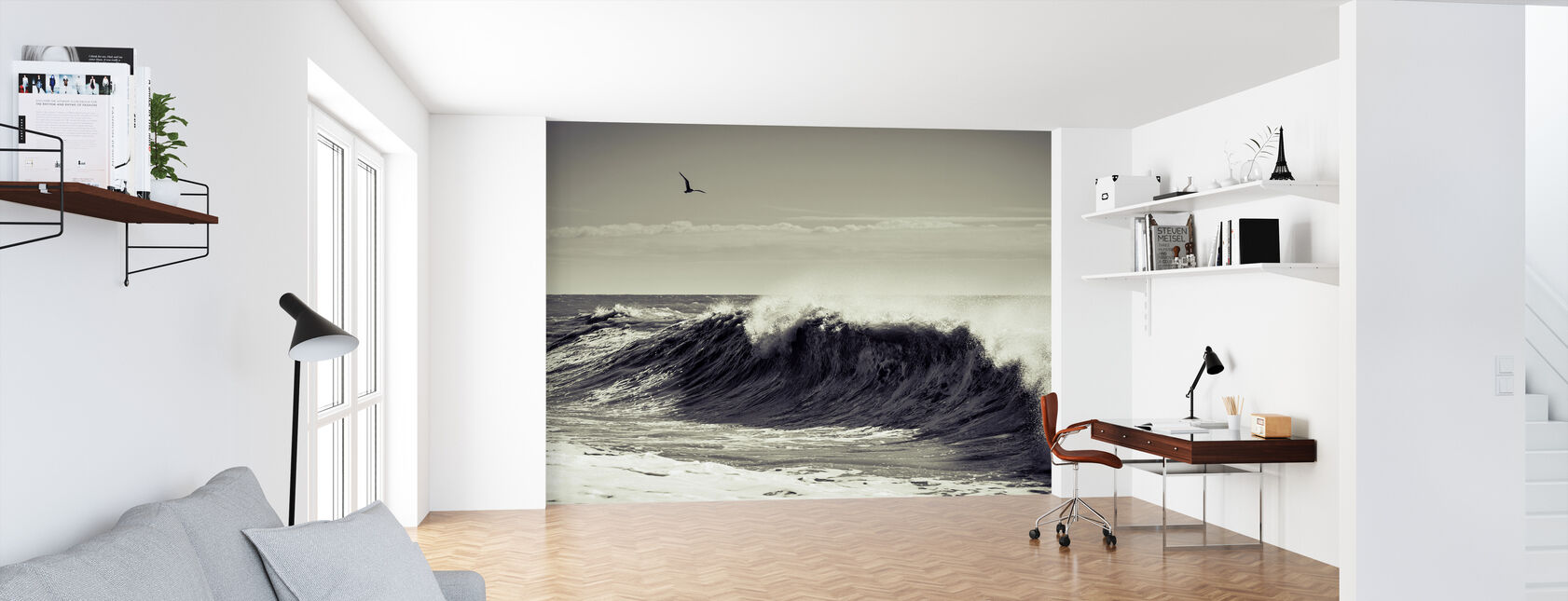 Breaking Wave - Wallpaper - Office