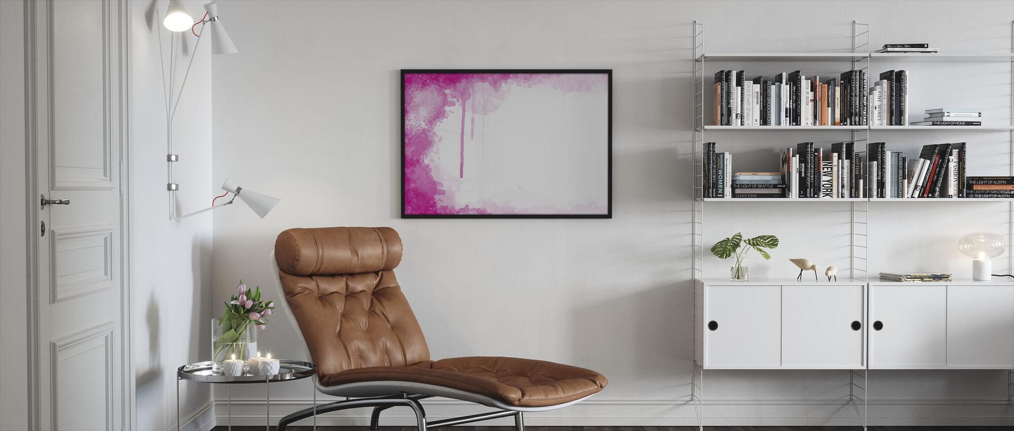 Fuchsia Watercolor - Framed print - Living Room