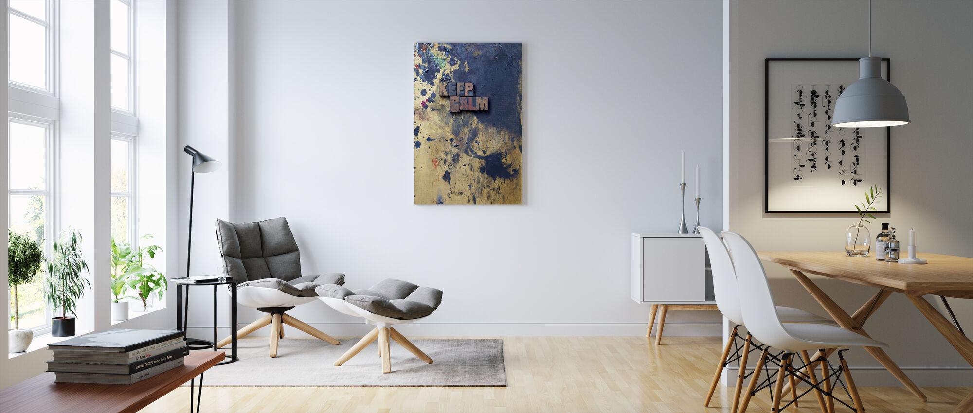 Keep Calm - Canvas print - Living Room