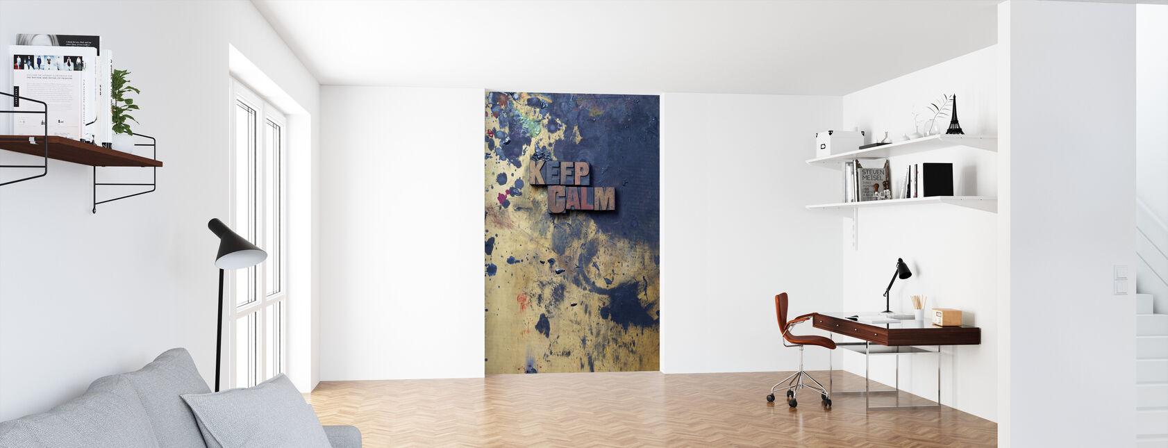Kalm houden - Behang - Kantoor