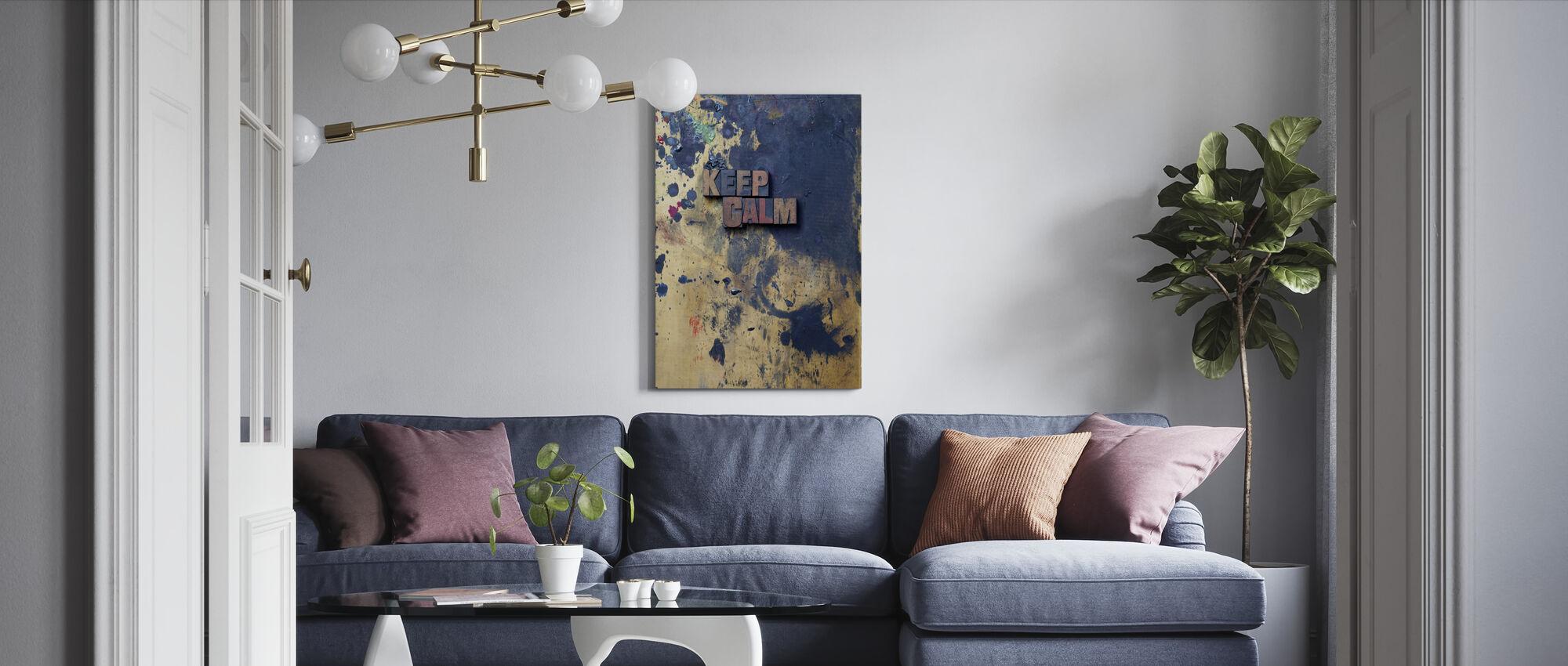 Ruhig bleiben - Leinwandbild - Wohnzimmer