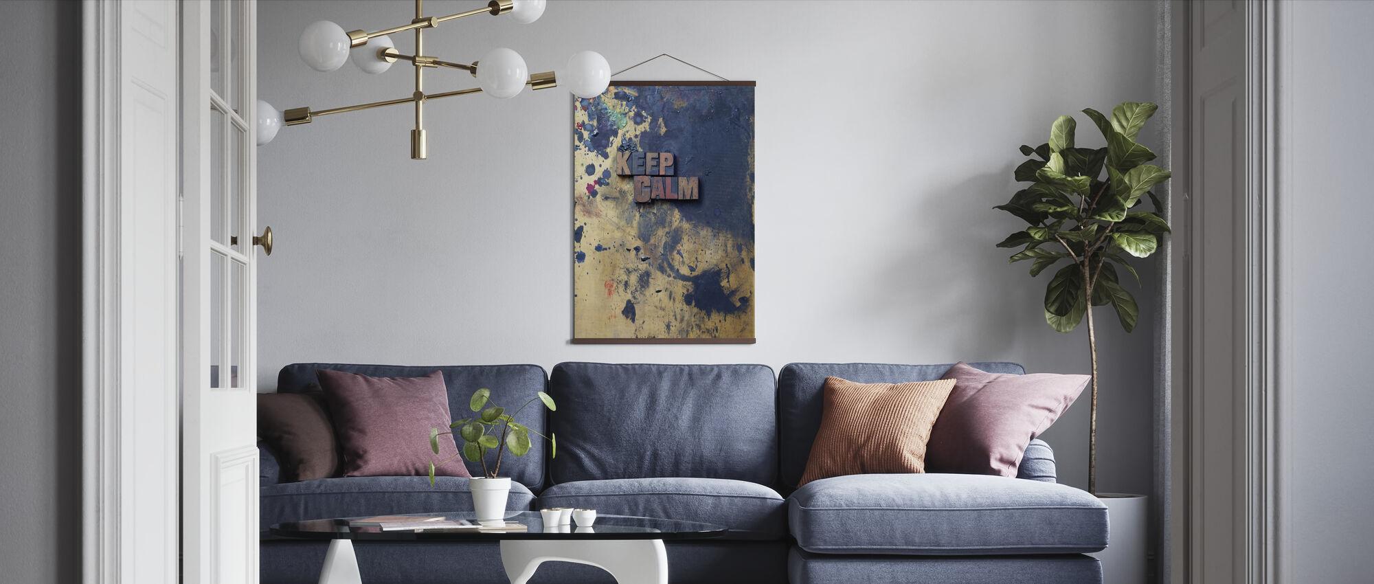Ruhig bleiben - Poster - Wohnzimmer