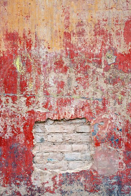 Reddish Old Cement Wall Fototapeter & Tapeter 100 x 100 cm