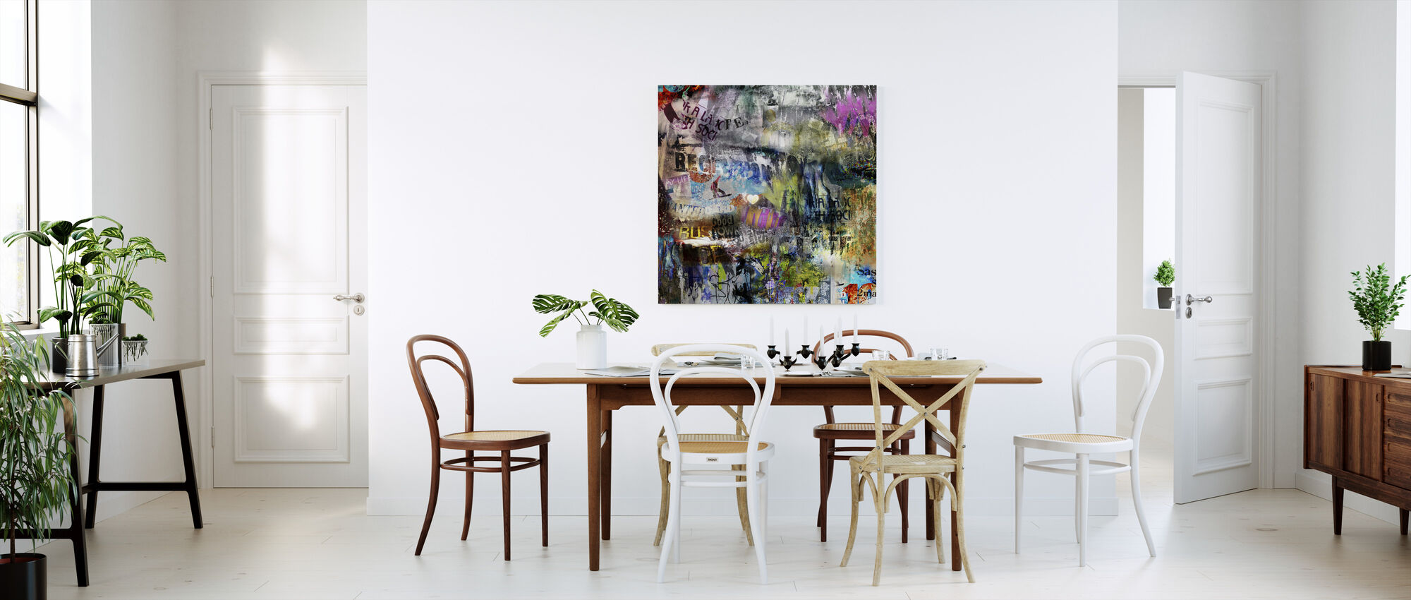 Torn Posters - Canvas print - Kitchen