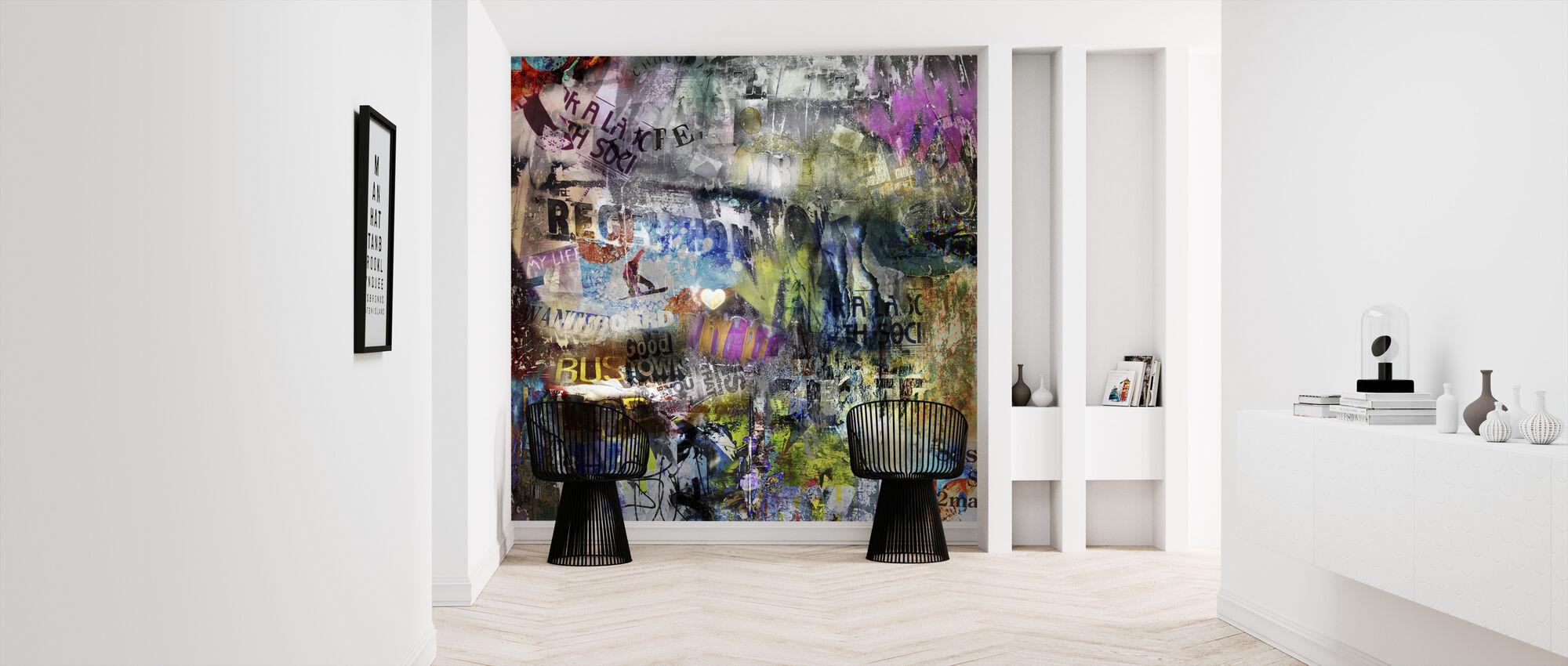 Torn Posters - Wallpaper - Hallway