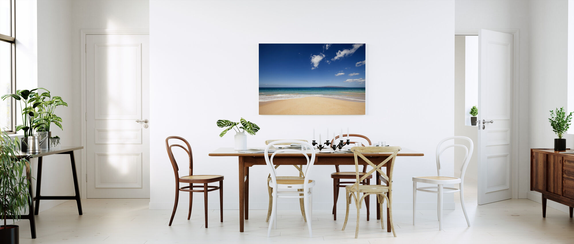 Blue Noon at the Beach - Canvas print - Kitchen
