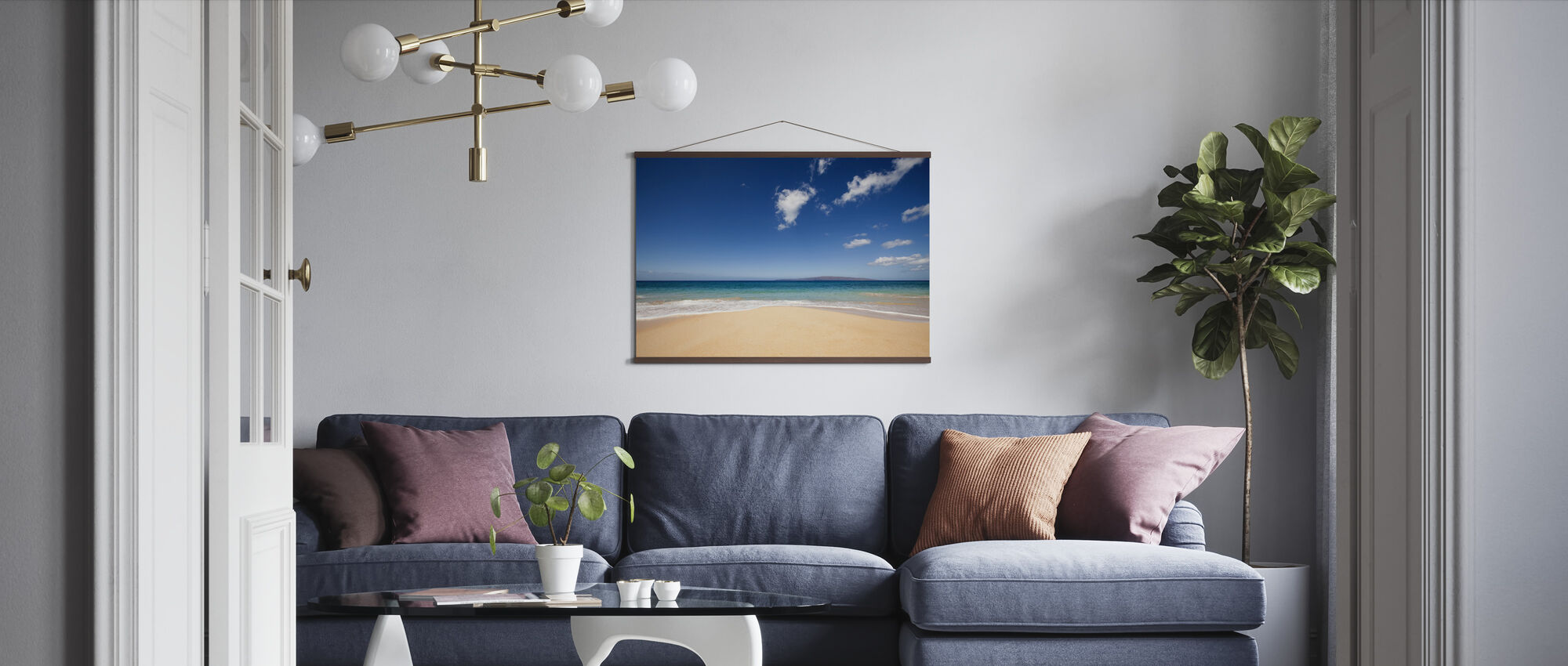 Blue Noon at the Beach - Poster - Living Room