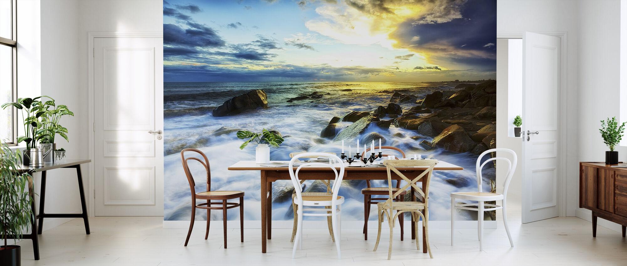 Waves Crashing - Wallpaper - Kitchen
