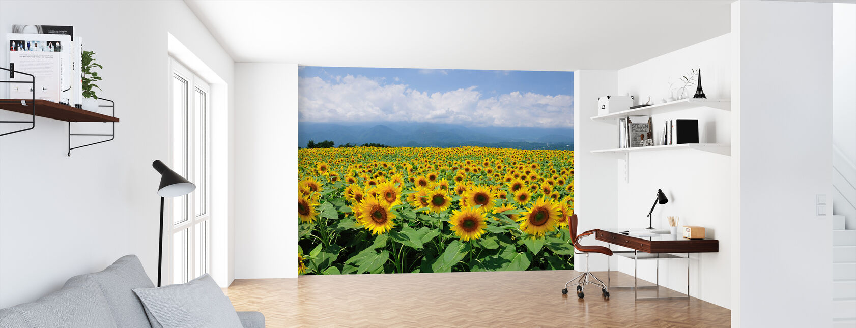 Sunflowers in Sunny Weather - Wallpaper - Office