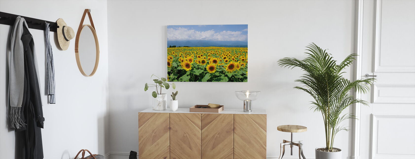 Sunflowers in Sunny Weather - Canvas print - Hallway