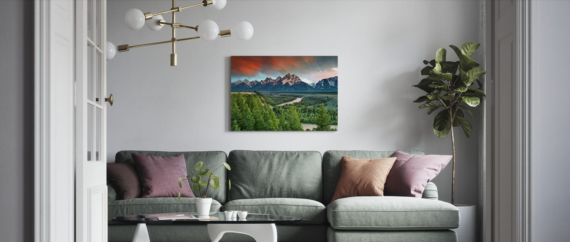 Snake River - Canvas print - Living Room
