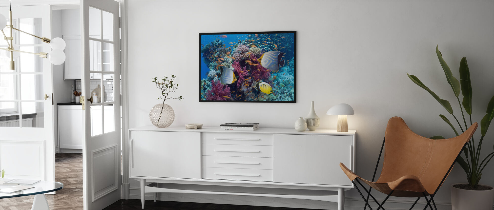 Butterfly Fish - Framed print - Living Room