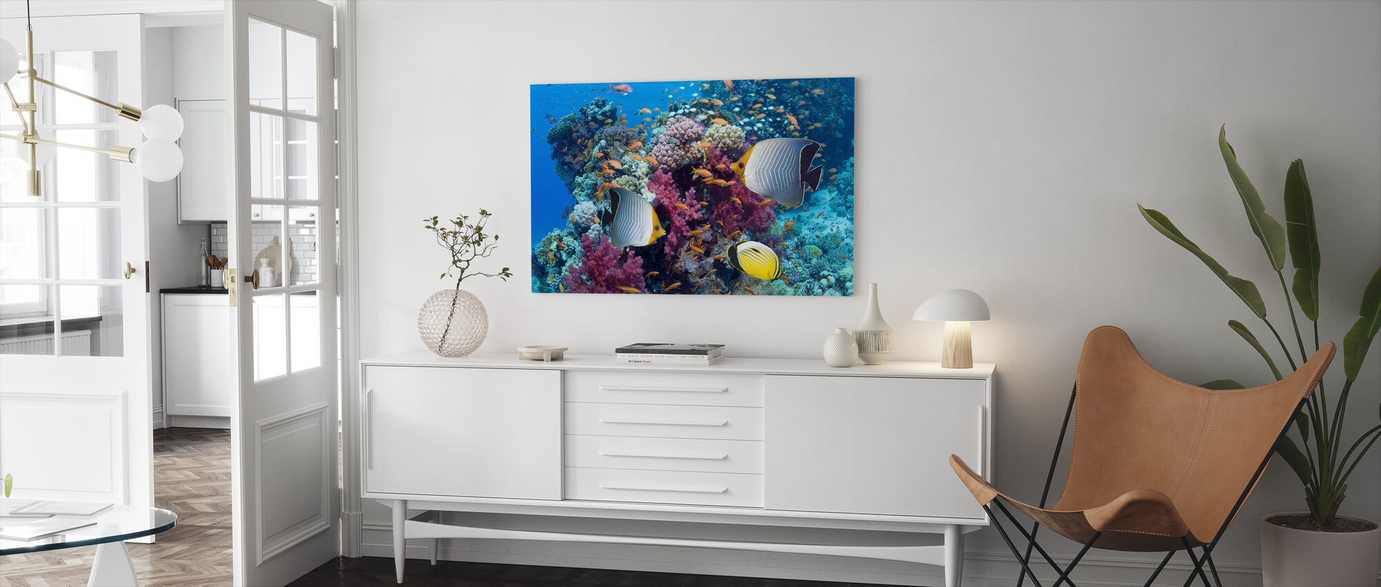 Butterfly Fish - Canvas print - Living Room