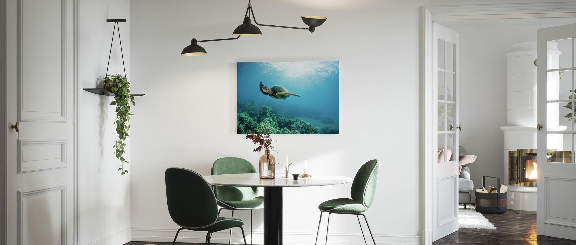 Hawaiian vihreä merikilpikonna - Canvastaulu - Keittiö
