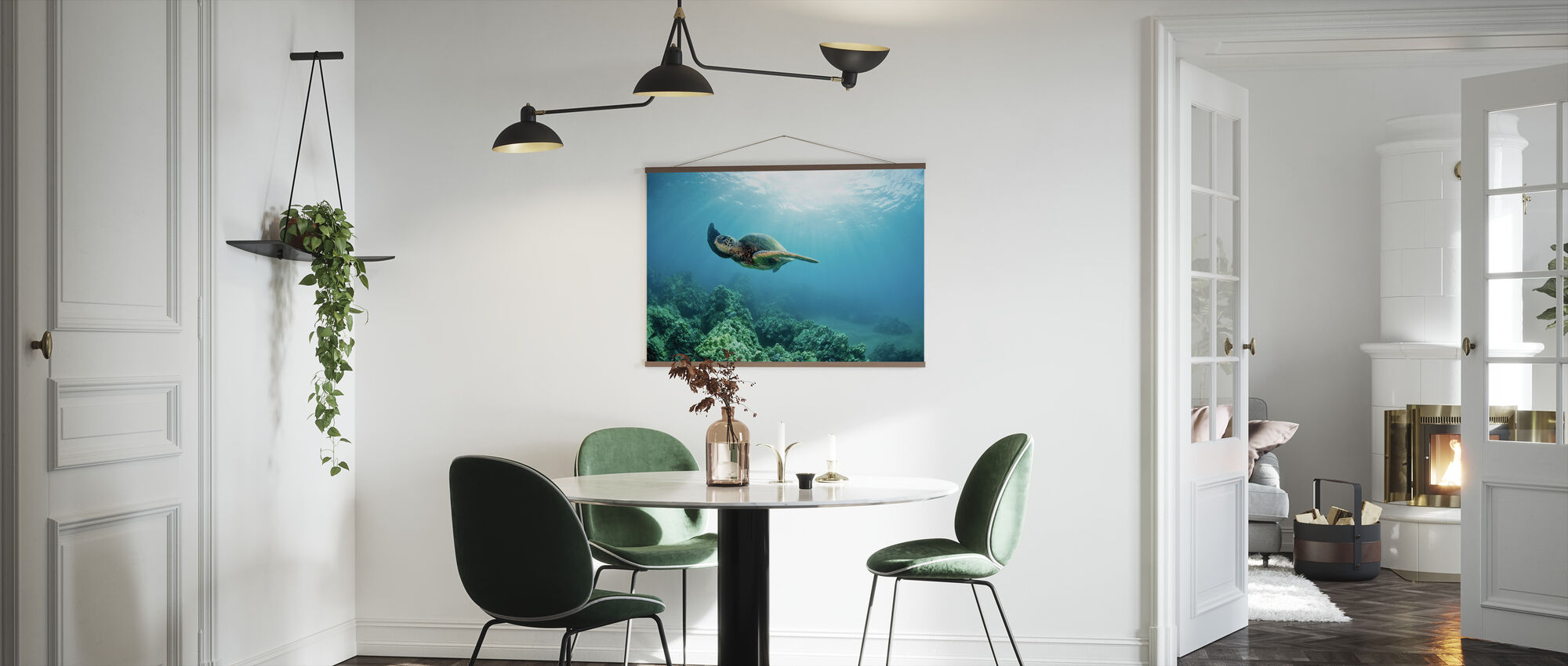 Hawaiian Green Sea Turtle - Poster - Kitchen