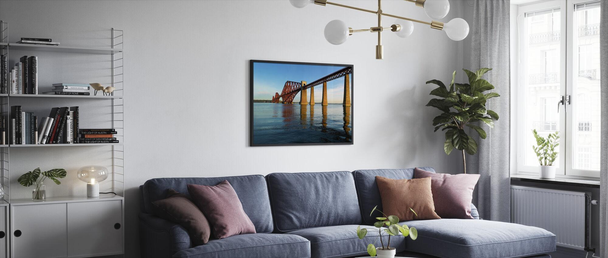 Dawn at Forth Road Bridge, Scotland - Framed print - Living Room