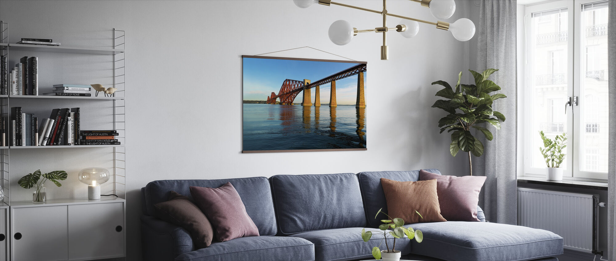 Dawn at Forth Road Bridge, Scotland - Poster - Living Room