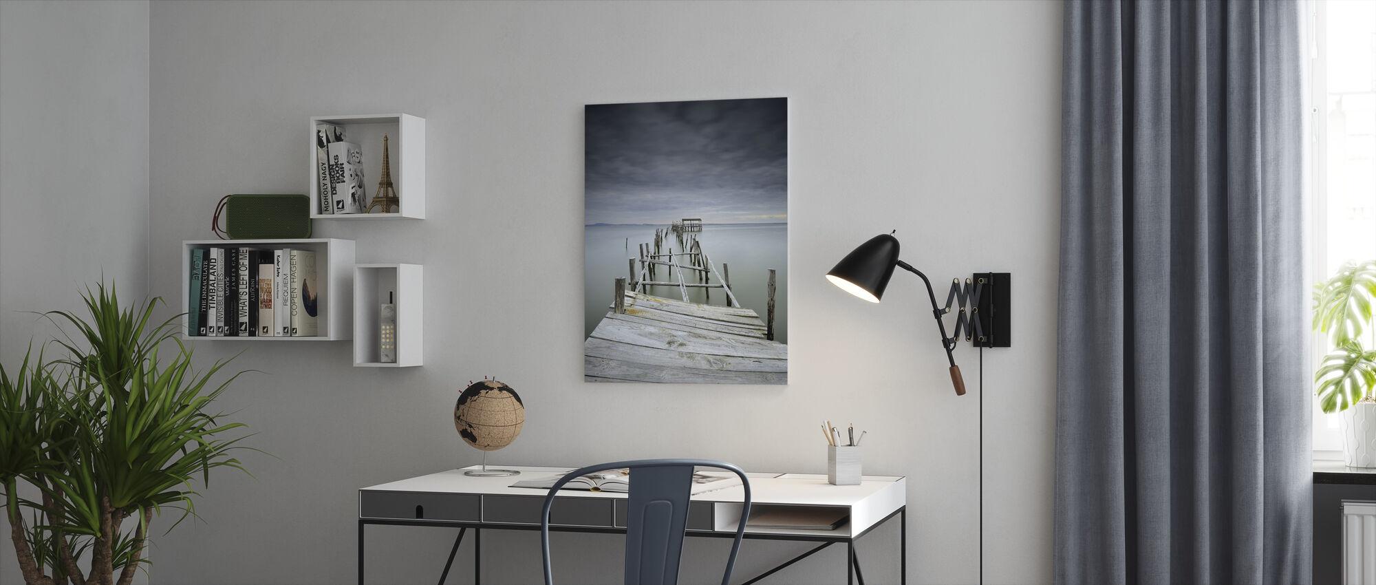 Onbereikbaar - Canvas print - Kantoor