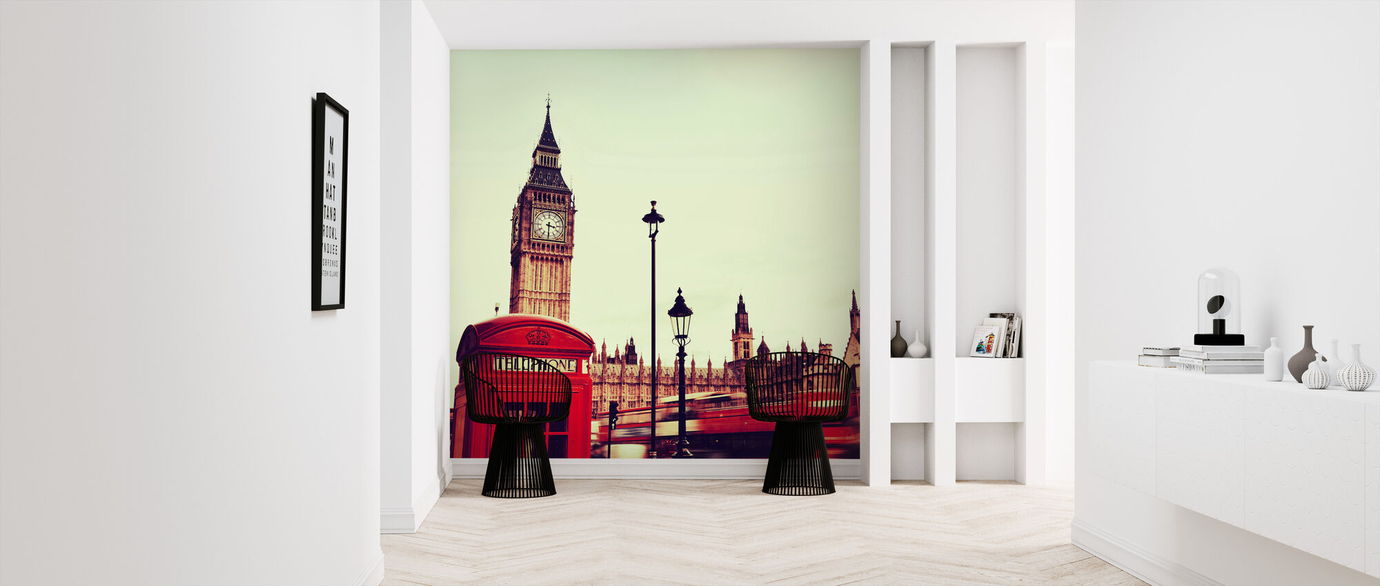 Telephone Booth and Big Ben - Wallpaper - Hallway