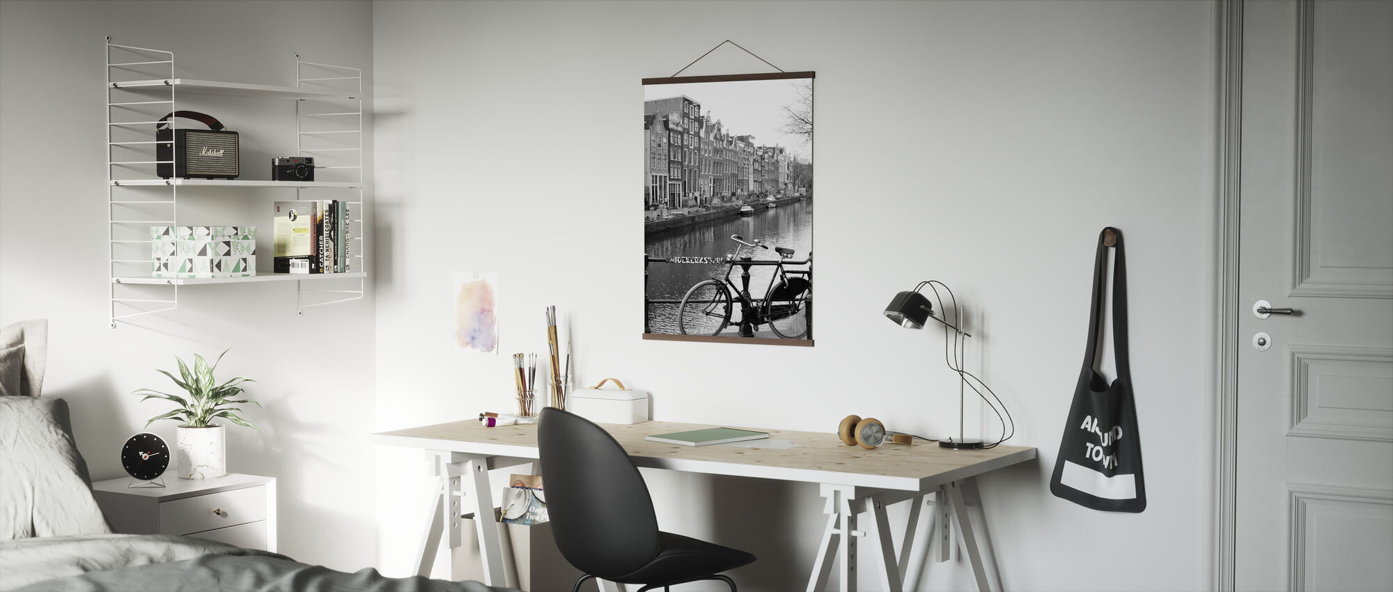 Bicycle by the Canal in Amsterdam - Poster - Office