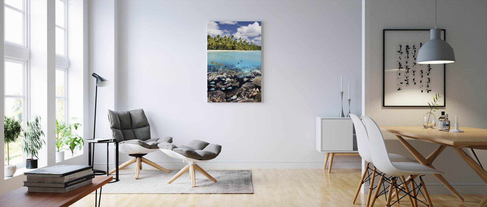 Under and above Water - Canvas print - Living Room