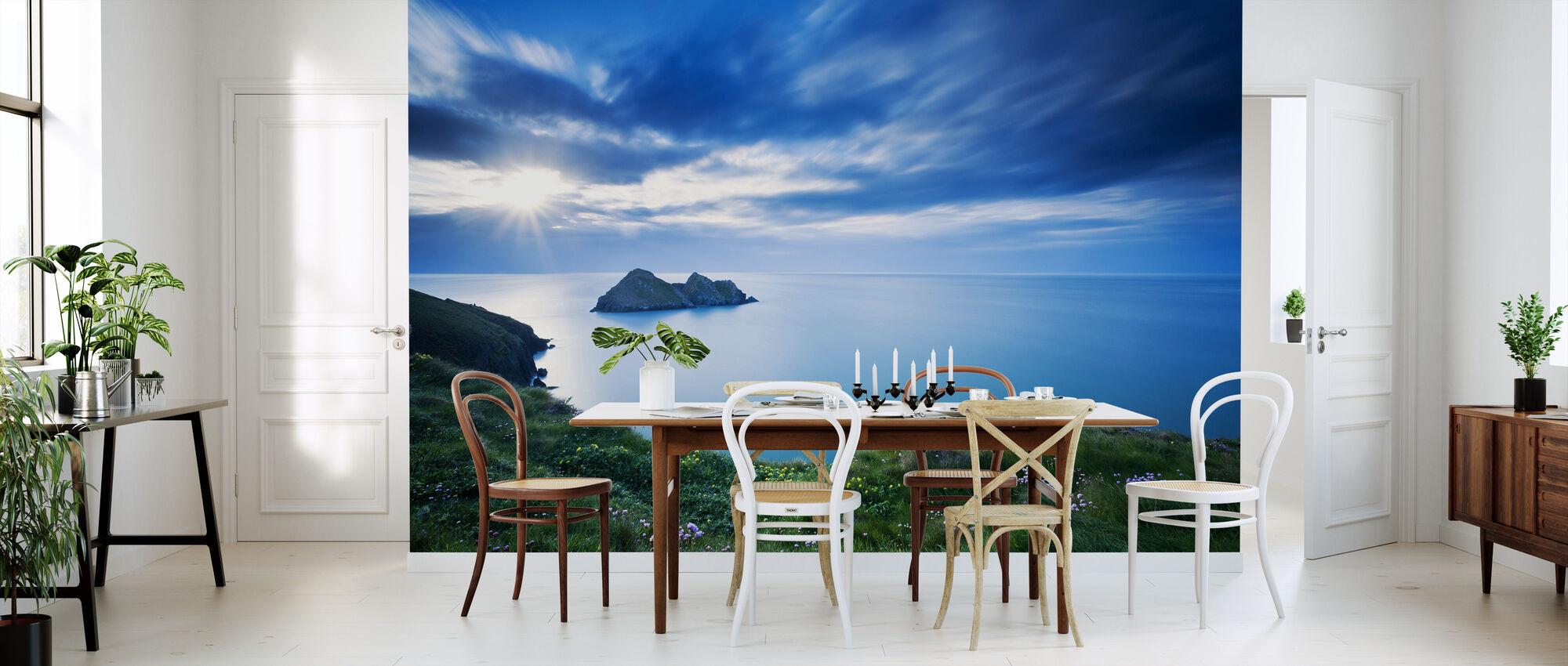 Symfoni i Blue - Tapet - Kjøkken
