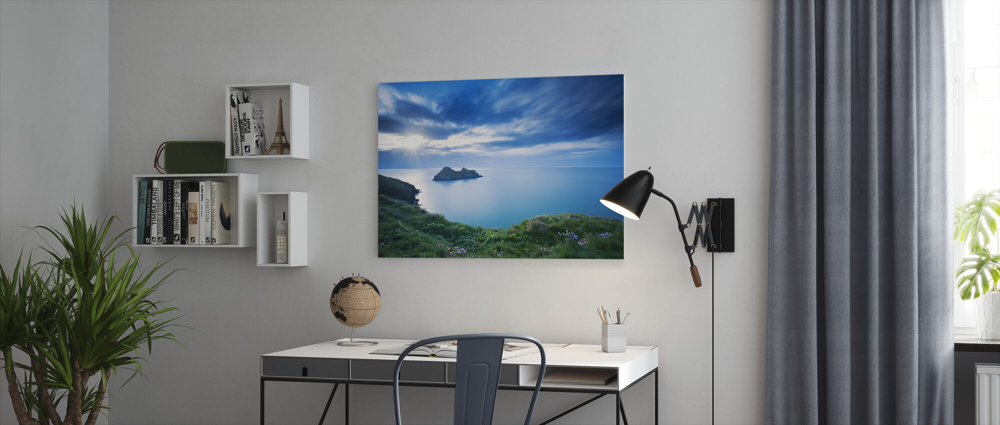 Symphony in Blue - Canvas print - Office