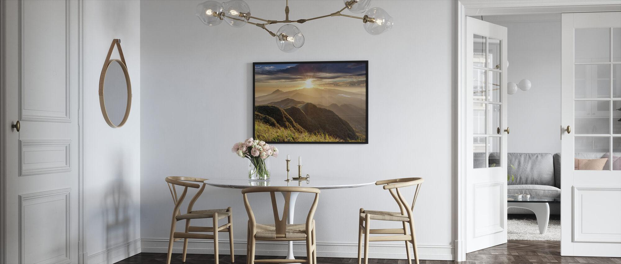 Diamonds and Rust - Framed print - Kitchen