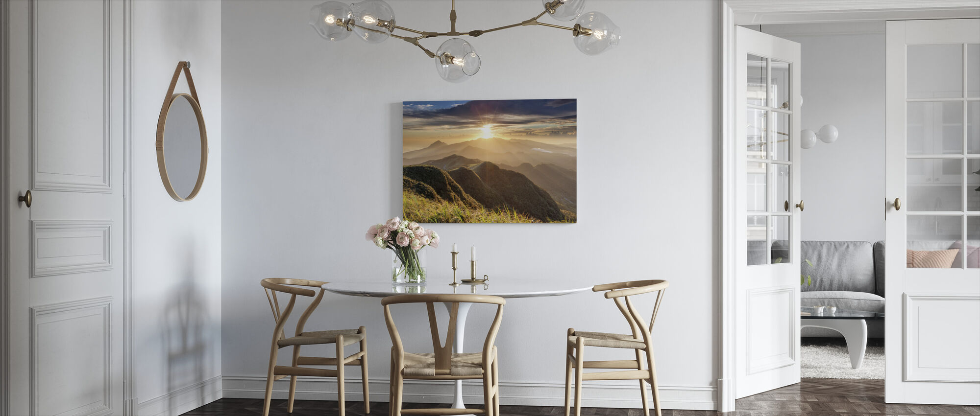 Diamanten en Roest - Canvas print - Keuken
