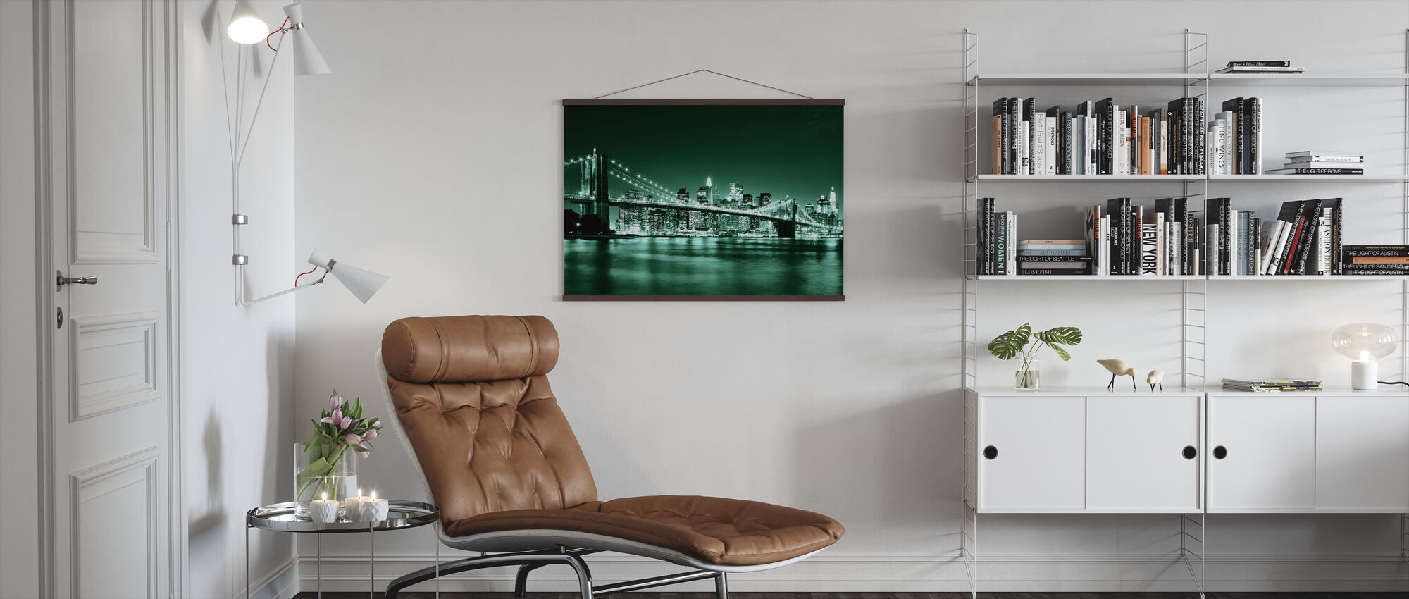 Brooklyn Bridge - Green - Poster - Living Room