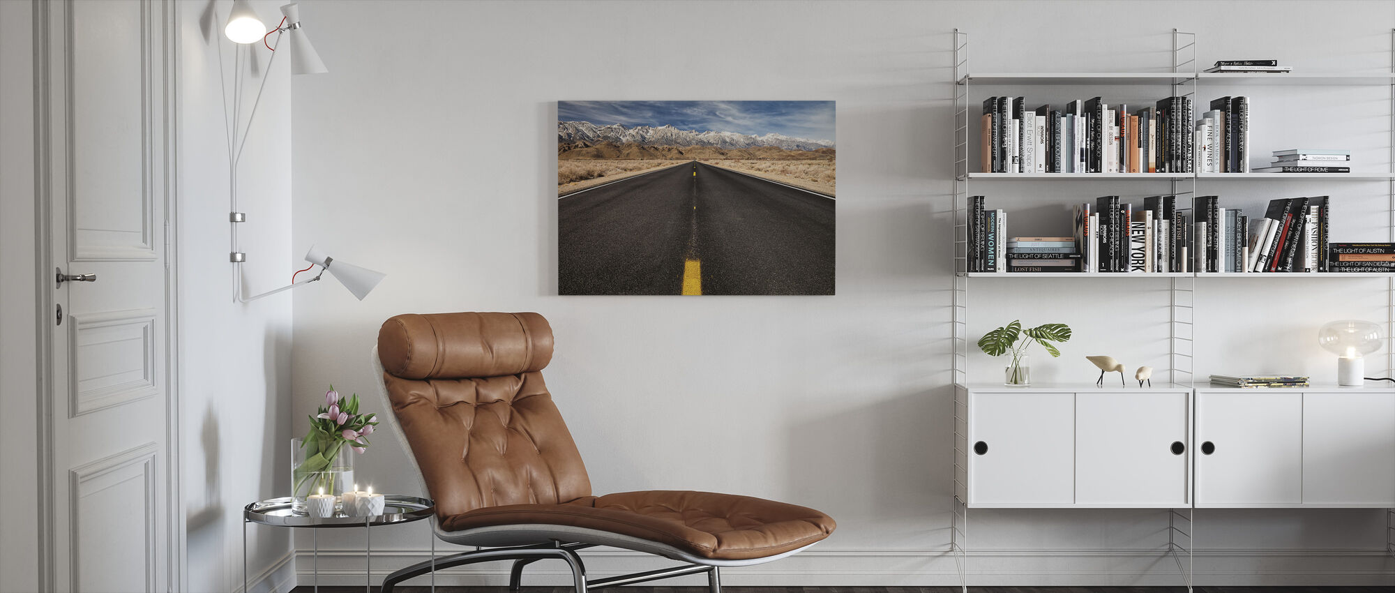 Rocky Mountain Road - Lerretsbilde - Stue
