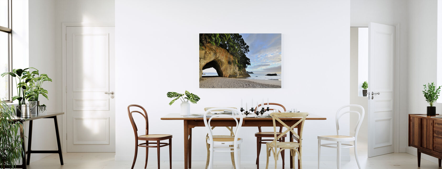 Rock Cave on the Beach - Canvas print - Kitchen