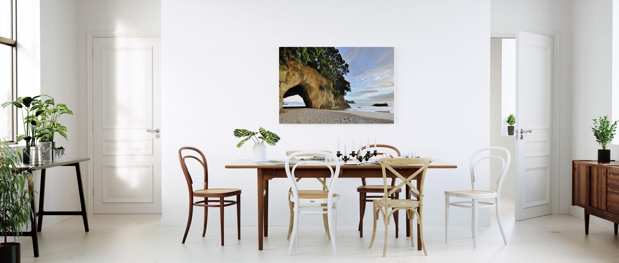 Stranden på stranden - Lerretsbilde - Kjøkken