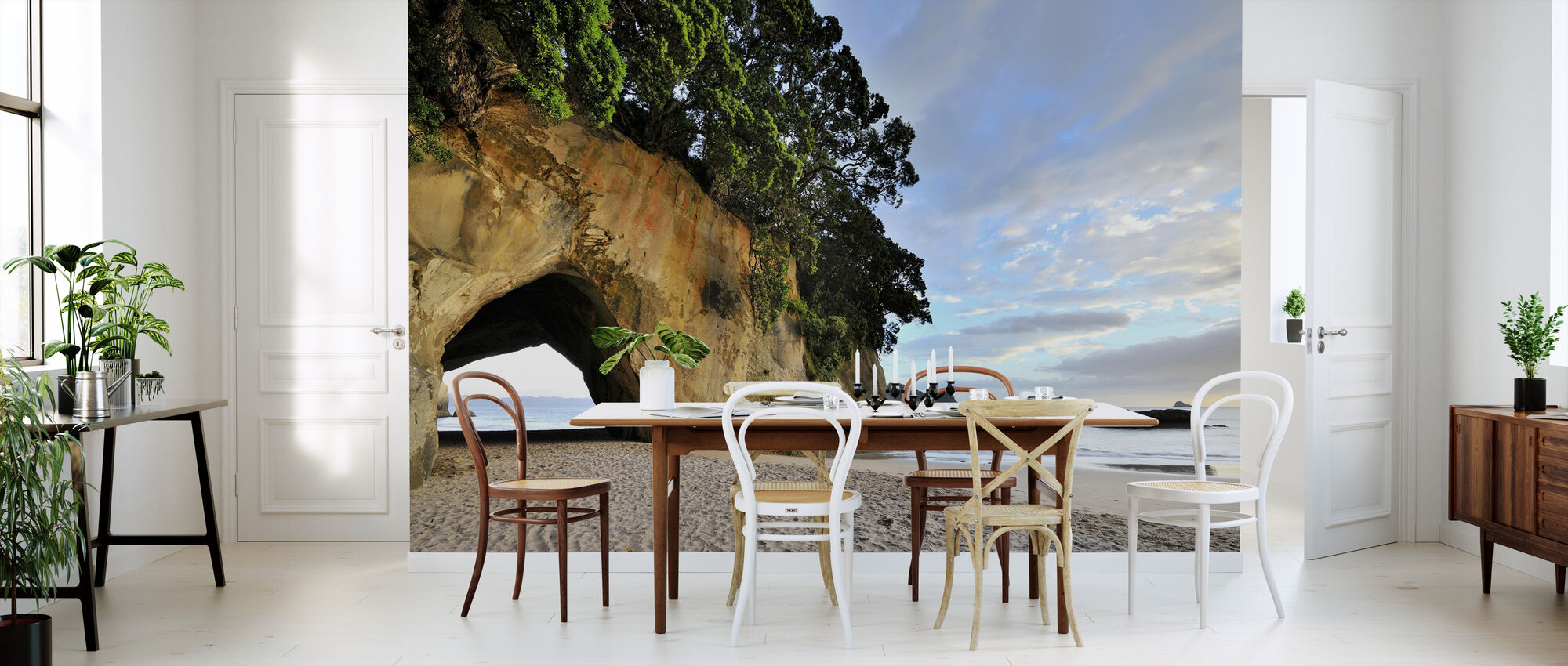 Rock Cave on the Beach - Wallpaper - Kitchen