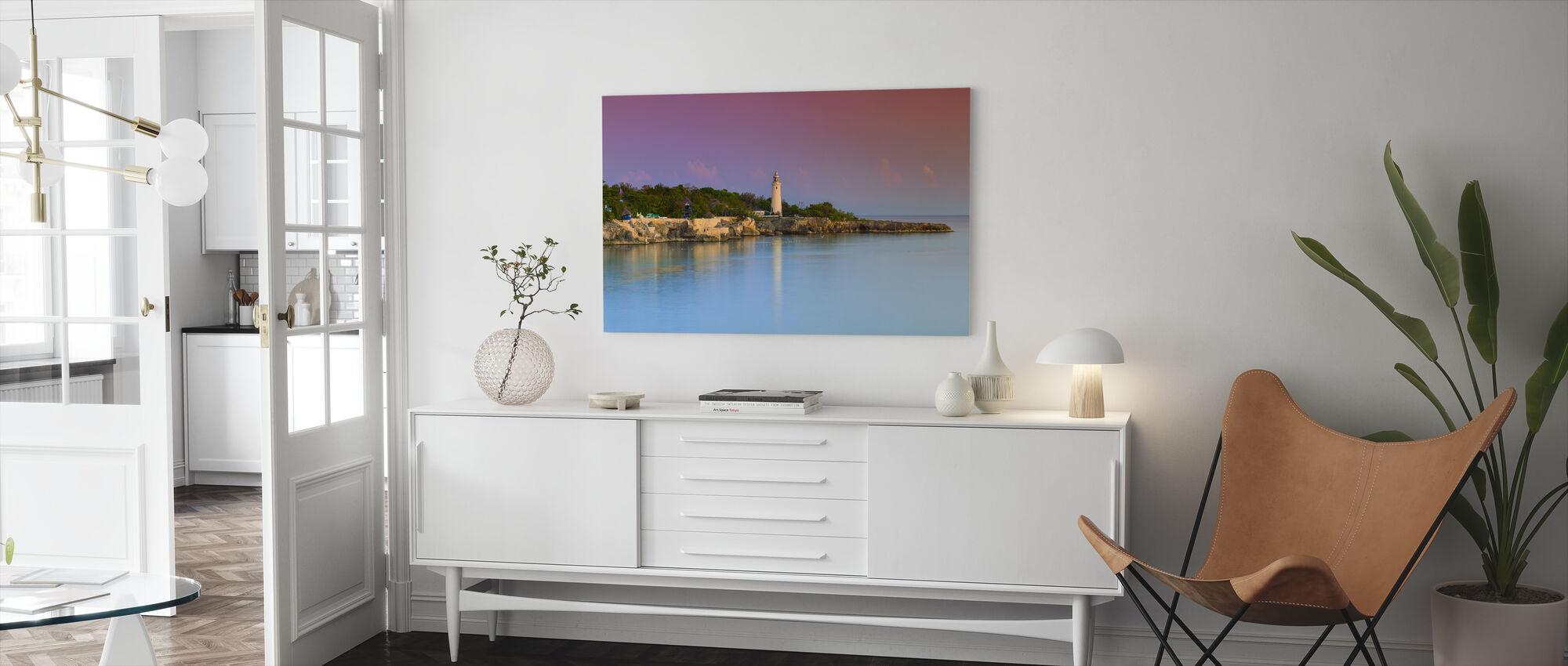 Lighthouse and Rugged Coastline - Canvas print - Living Room