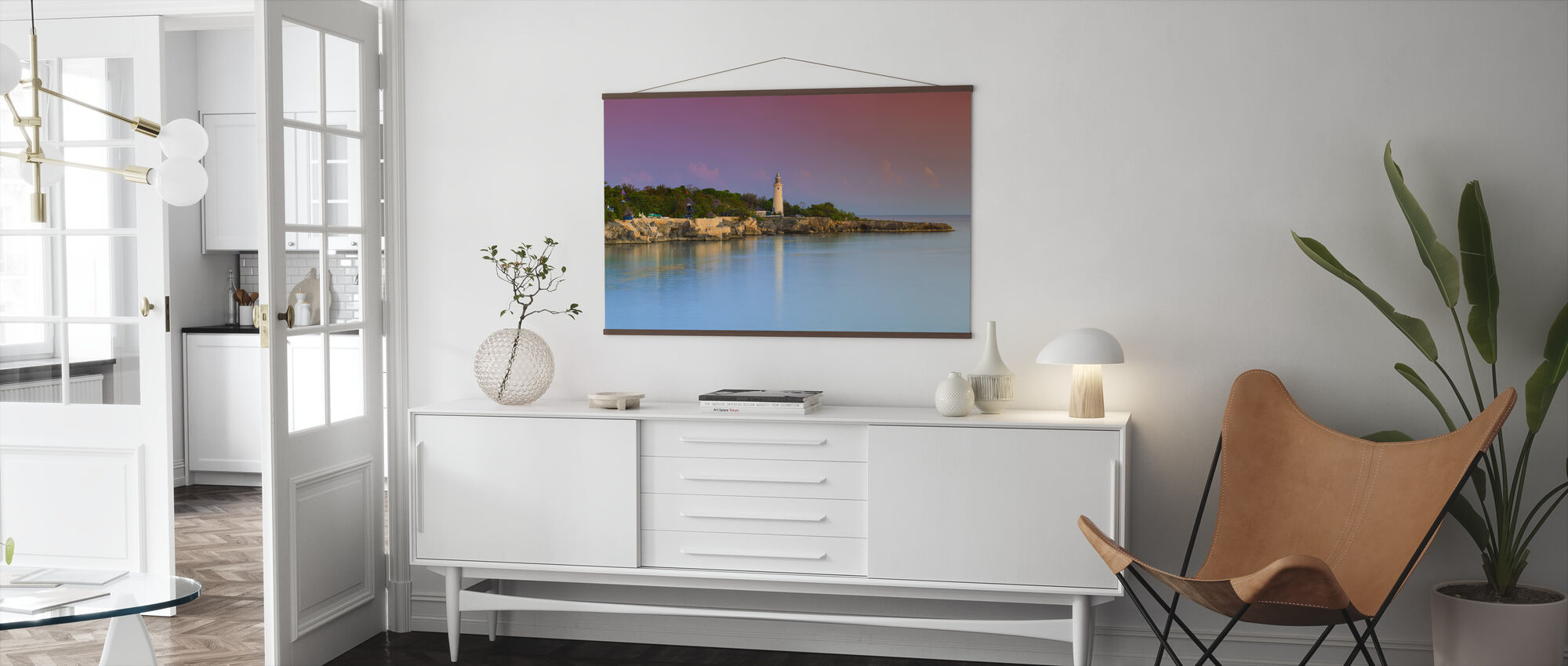 Lighthouse and Rugged Coastline - Poster - Living Room