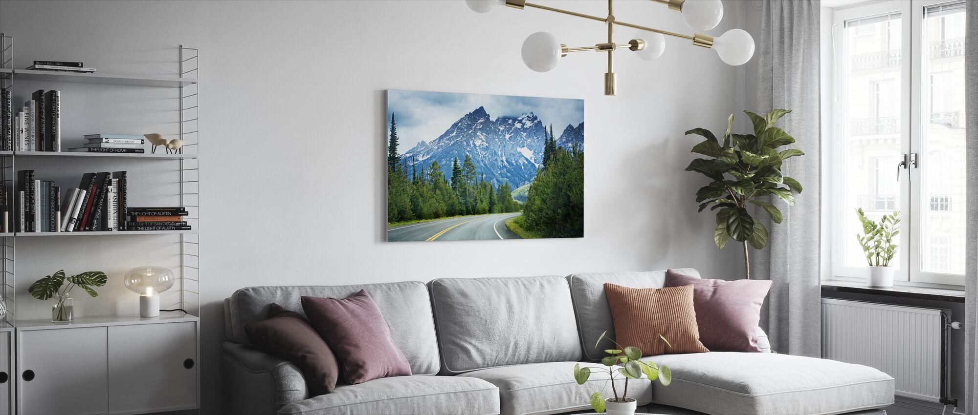 Scherpe bocht - Canvas print - Woonkamer