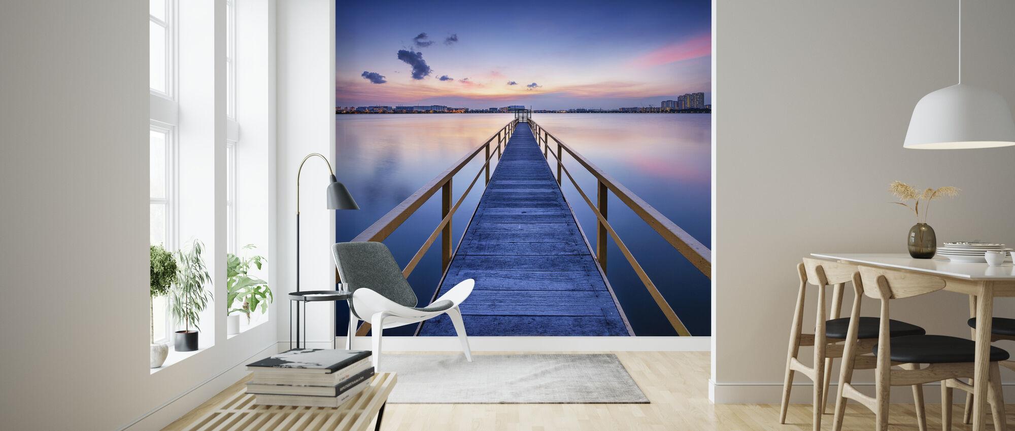 Rosy Sunset Pier - Tapet - Vardagsrum