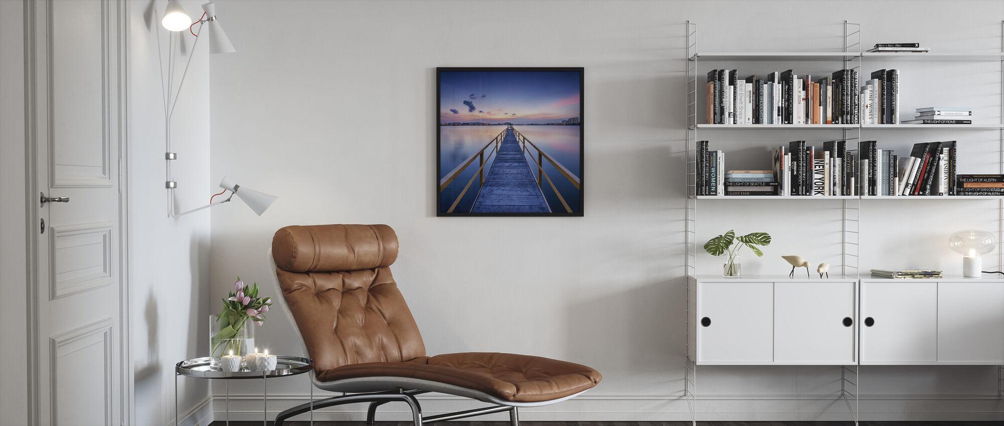 Rosy Sunset Pier - Gerahmtes bild - Wohnzimmer