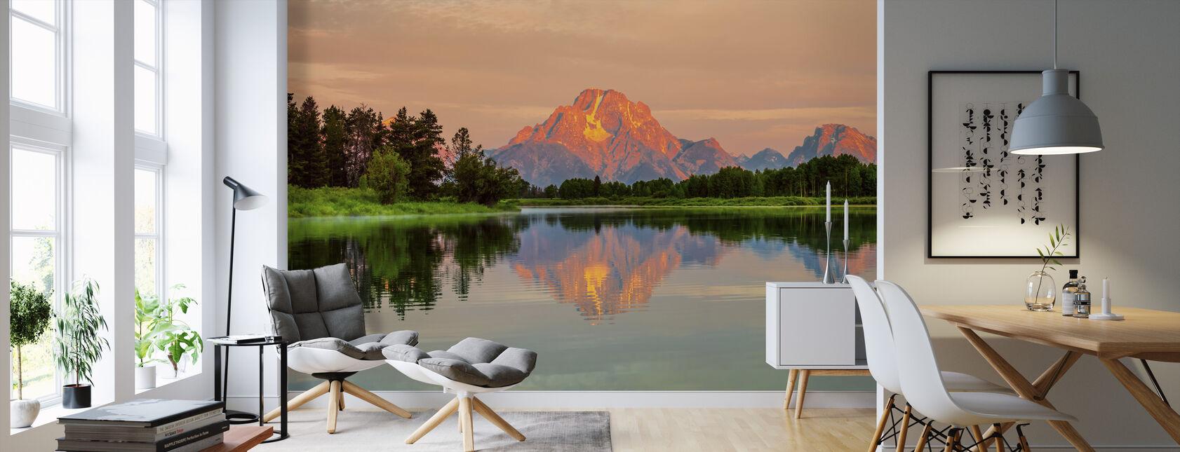 Grand Teton Amanecer - Papel pintado - Salón