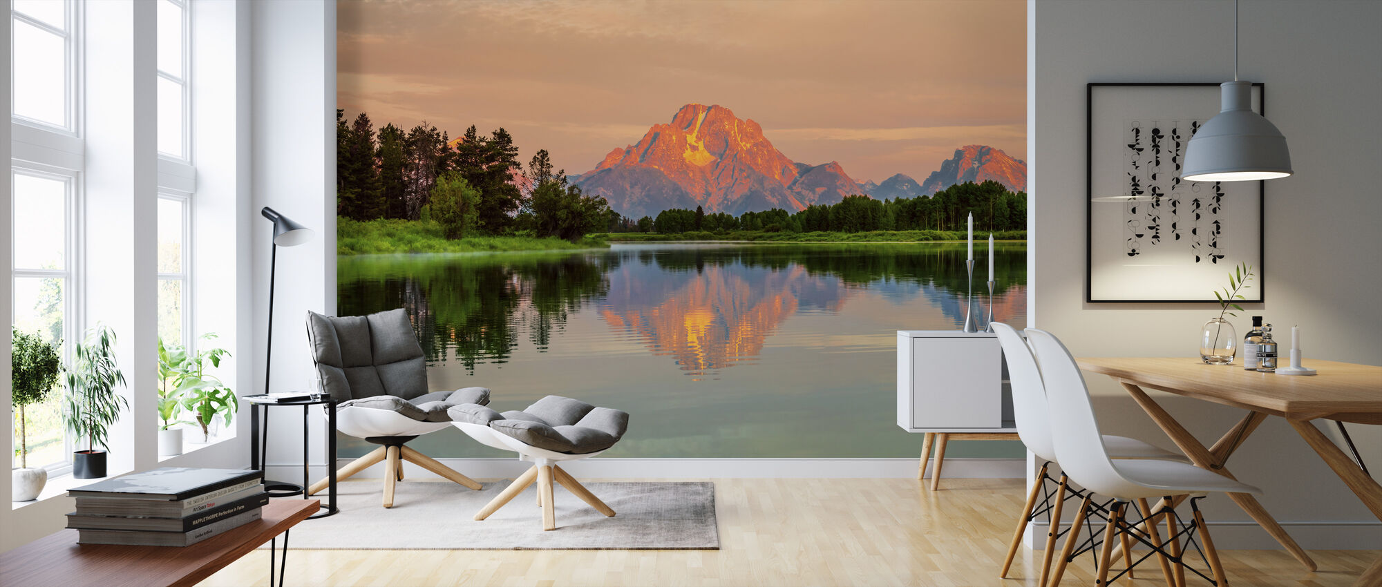 Grand Teton Sunrise - Wallpaper - Living Room