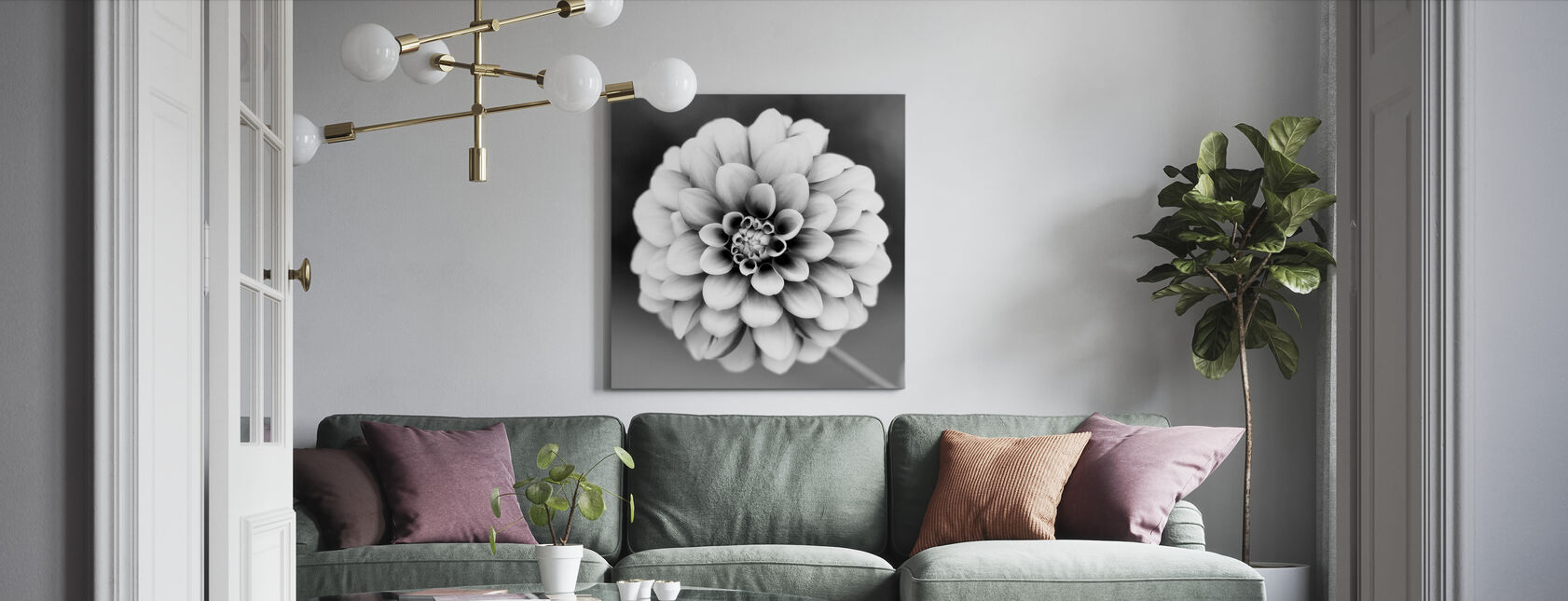 Dahlia - Canvas print - Living Room