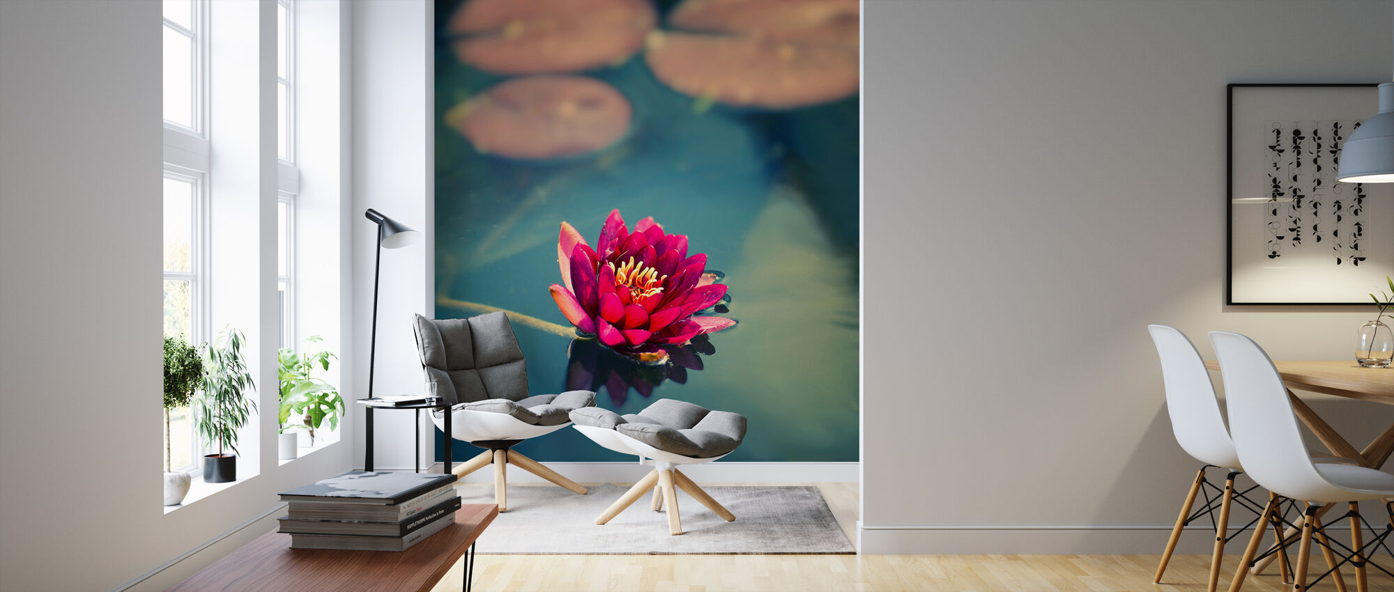 Lotus in Lake - Wallpaper - Living Room