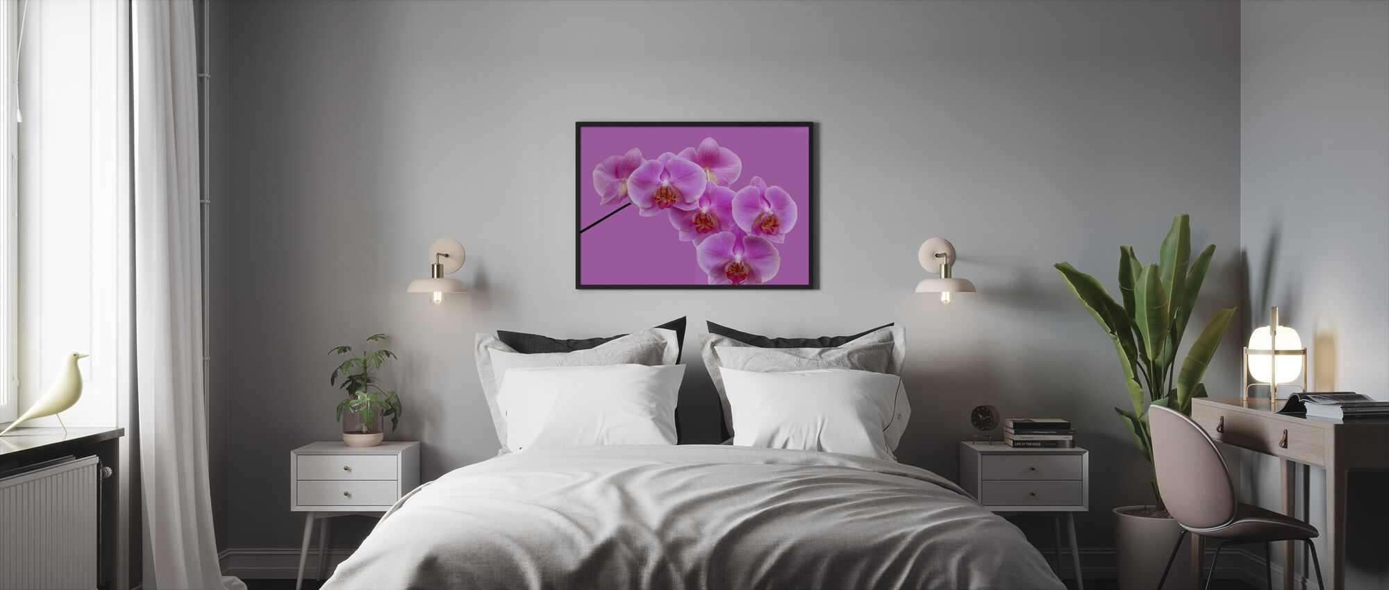Pink on Pink - Framed print - Bedroom