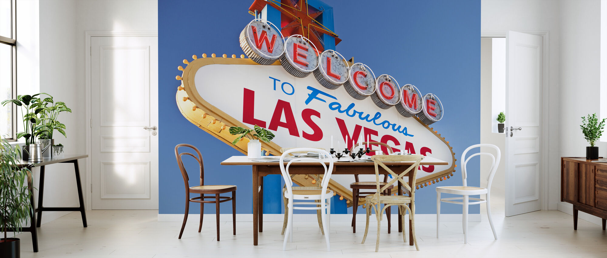 Welcome Sign to Las Vegas - Wallpaper - Kitchen