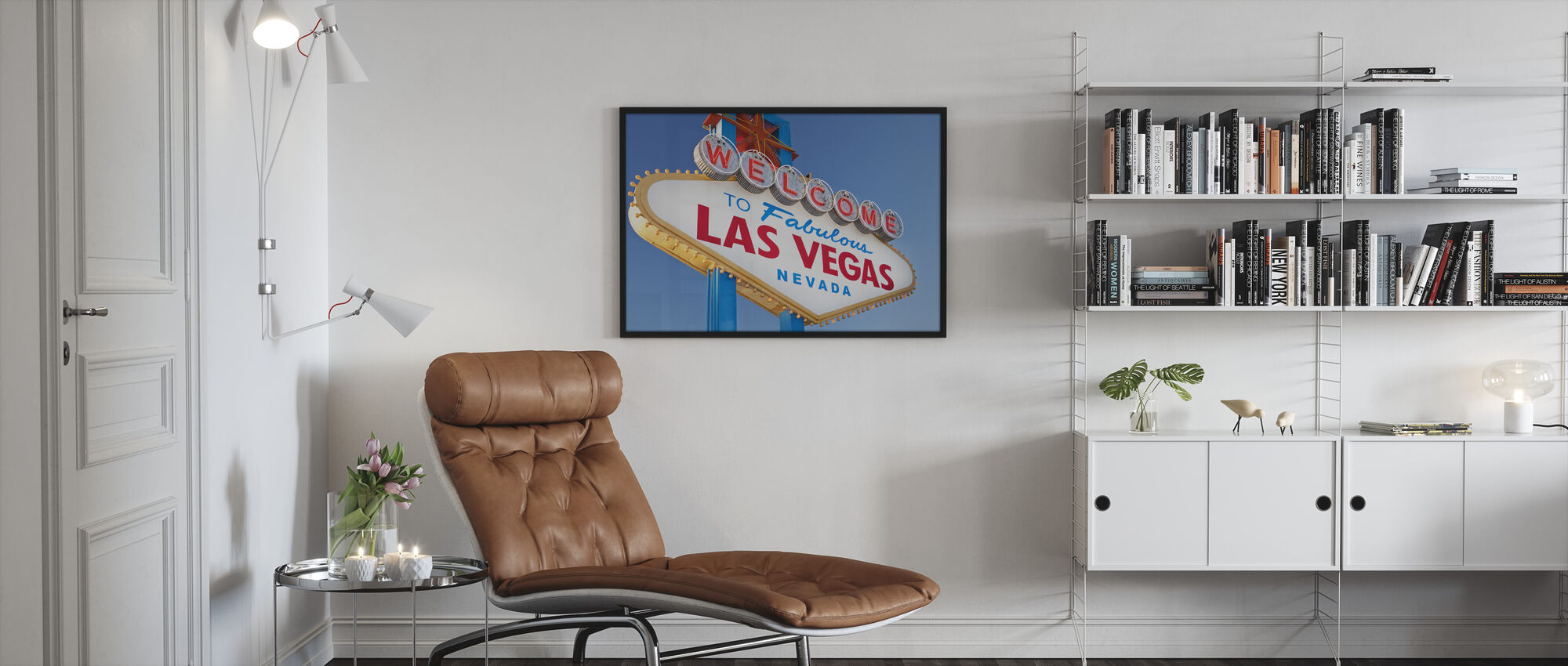 Welcome Sign to Las Vegas - Framed print - Living Room