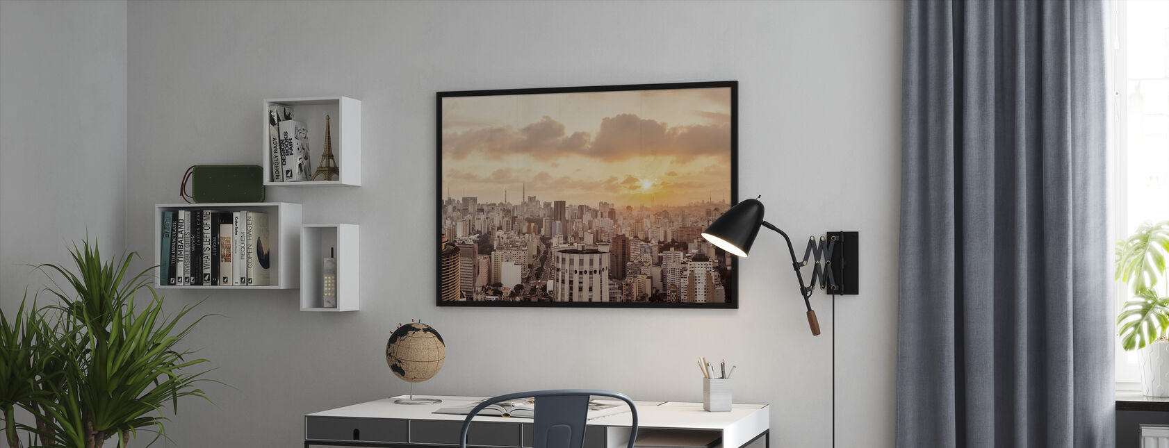 Sao Paulo Sunset - Framed print - Office