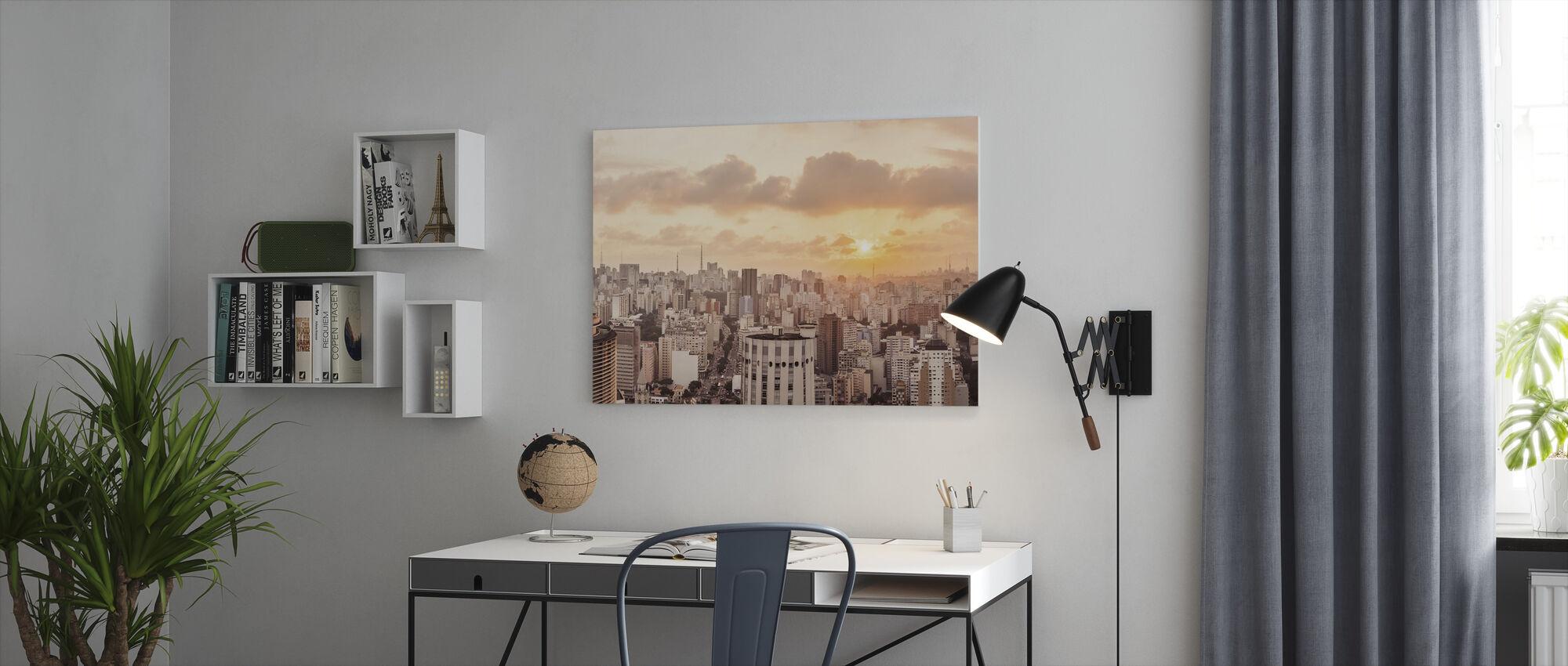 Sao Paulo Sunset - Leinwandbild - Büro