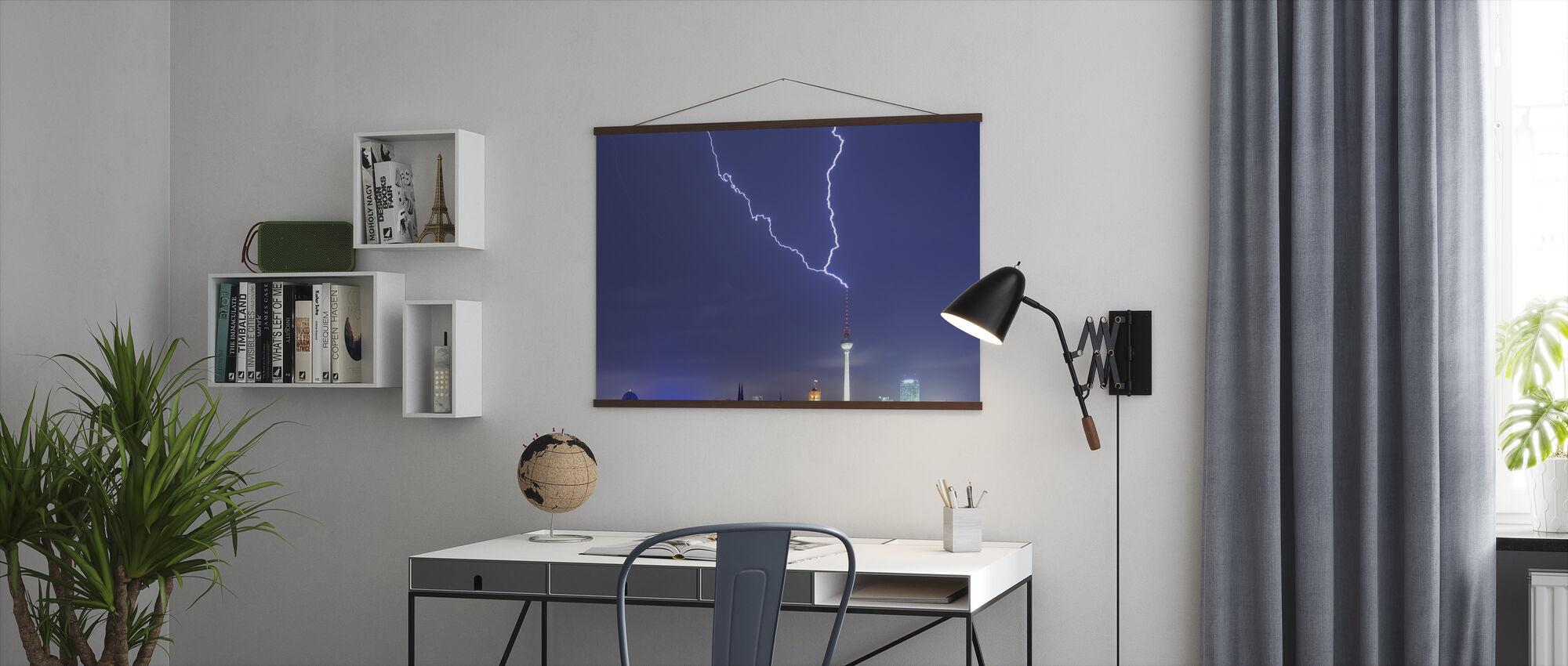 Berlin Lightningstrike - Poster - Office